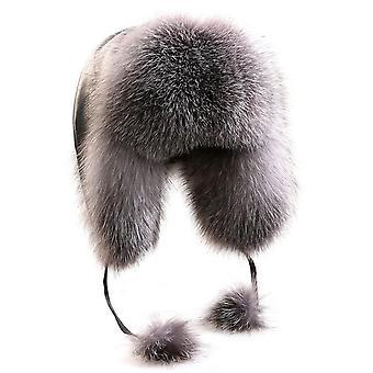 Women's الشتاء الراكون الفراء القبعات