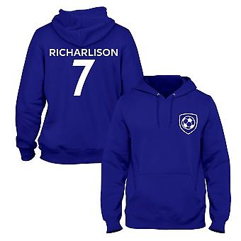 Richarlison 7 Club Style Player Football Hoodie