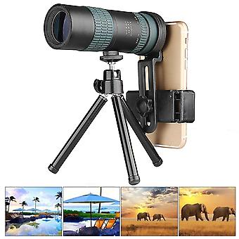 8-24X30 Adjustable Zoom Monocular Optic BAK4 Lens Dual Focus Telescope Outdoor Camping