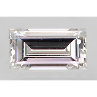 Sertifioitu 0,24 karat D Väri VVS1 Patonki Natural Loose Diamond 4.85x2.58mm 2EX