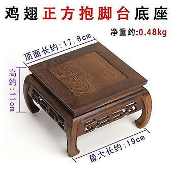 Rosentre Carving Dekorasjon Base Solid Wood Tea Table