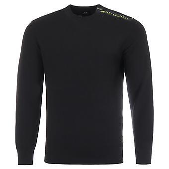 Armani Exchange Crew Neck Sweater - Black