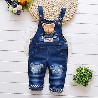 Baby/girls Clothes, Toddler Denim Cotton Casual Suspender Pants