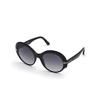 Tom Ford Ginger TF873 01B Óculos de Sol Preto Brilhante/Degradê de Fumaça