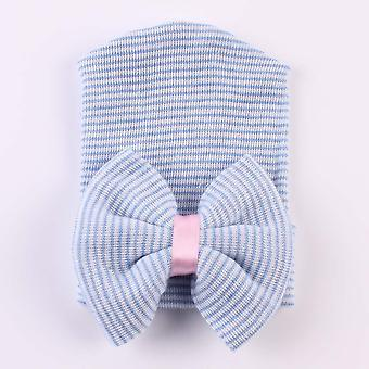Big Bows Hospital Chiffon, Soft Beanie Photo Props Newborn Accessories