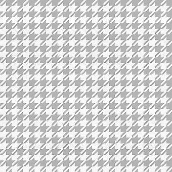 Houndstooth Silber Weiß Wallpaper