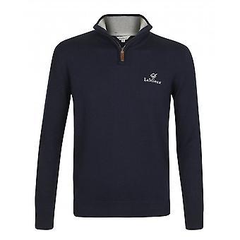 LeMieux Lemieux Monsieur Mens Crew Jumper - Navy Blue