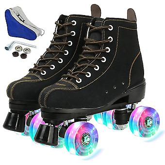 Roller Skates, Flash Wheels Shoes, Double Line Skates