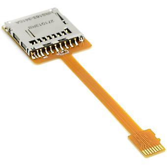 HanFei Micro SD TF Speicherkarten-Set, Stecker auf Buchse, Verlngerungskabel, weich, flach,