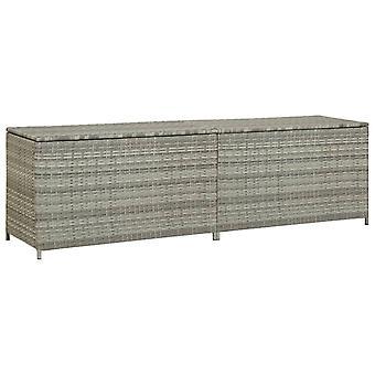 vidaXL Garden Box Poly Rattan 200x50x60 cm Grey