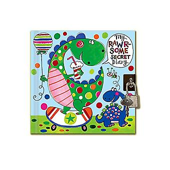 Rachel Ellen Dinosaur Design Secret Diary With Padlock and Key
