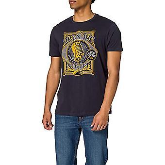 Springfield Camiseta Guitar T-Shirt, Dark Blue, S Men's