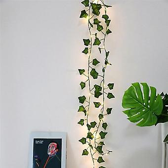 2m lehdet Ivy Leaf Garland Ulkona Keiju String Valot