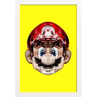 JUNIQE Print - Super Plombier - Mario Plakat i gult