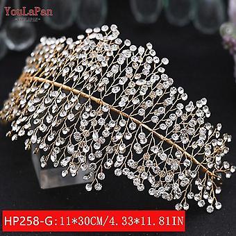 Youlapan Hp240 Silver Diamonds Bridal Crown Wedding Hair Accessories Bridal