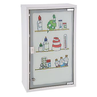 HI Medizinschrank 30 x 15 x 50 cm Edelstahl