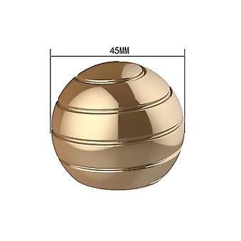 45mm זהב להסרה שולחן מסתובב הכדור העליון, קצות האצבעות מסתובב העליון, צעצוע לחץ az6314