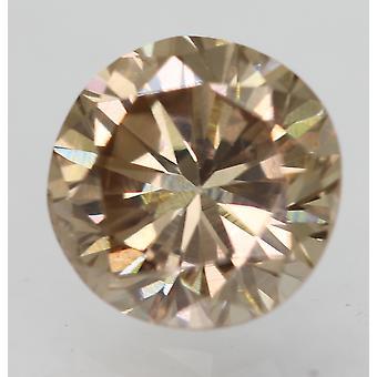 Cert 0.61 Ct Fancy Brown VVS2 Round Brilliant Enhanced Natural Diamond 5.25m 3VG