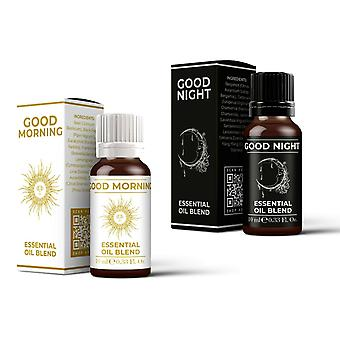 Mystic Moments Good Morning & Good Night Essential Oil Blend Twin Pack (2x10ml)