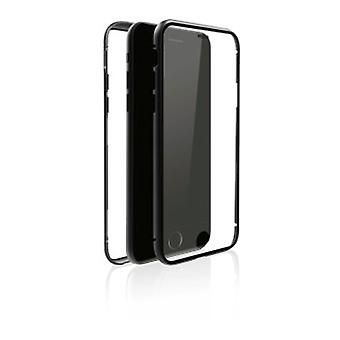 """Black Rock""""360° Glass"""" Protective Case for Apple iPhone 7/8, Perfect Protection, Slim Design, Plastic, 360° Cover, Black"""
