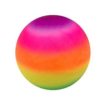 22X22cm como mostrado engraçado bola inflável bola arco-íris cor de bola de praia brinquedo espessa pvc bola brinquedos para crianças crianças dt2410