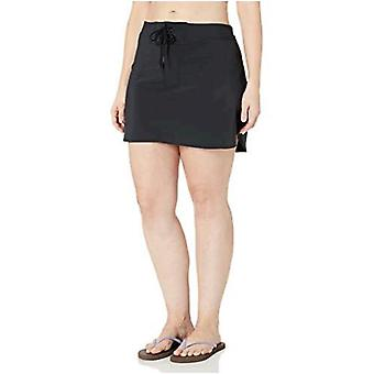 Brand - Coastal Blue Women's Plus Size Swimwear Drawstring Front Board Skirt