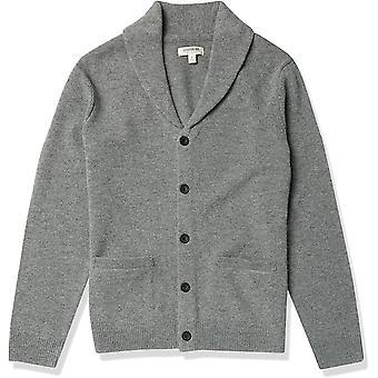 Brand - Goodthreads Men's 100% Lambswool Long-Sleeve Shawl Collar Cardigan Sweater