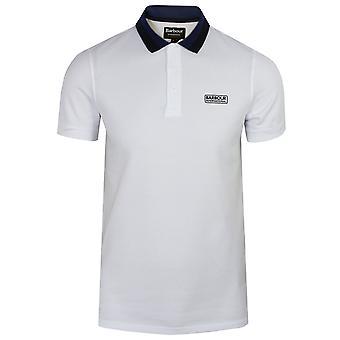 Barbour international men's white ampere polo shirt