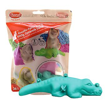 Gowi Toys 3D Creative Sand Mould (Crocodile) and Sand Build Beach Pit Box Indoor