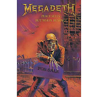 Megadeth Poster Peace Sells Band Logo new Official 70cm x 106cm Textile Flag