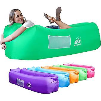 Inflatable Sofa Beach Camping Sleeping Air Sofa(Green)