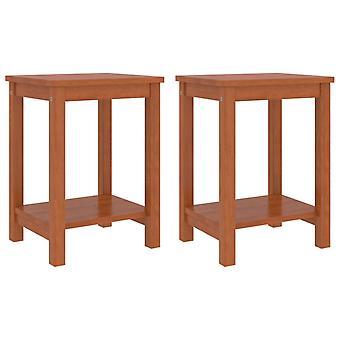 vidaXL bedside tables 2 pcs honey brown 35x30x47 cm pine solid wood