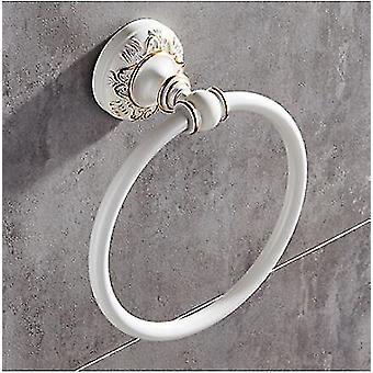 Kylpyhuoneen lisävarusteet Sarja Alumiini veistetty kylpyamme Laitteisto asettaa pyyhetelineen pidike valkoinen ja kulta