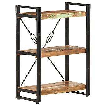 vidaXL bibliothèque 3 compartiments 60x30x80 cm massif de bois usagé