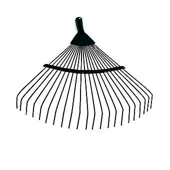 Garden Rake, Adjustable Lightweight Steel Poly Shrub Rake,  22 Tines(Black)