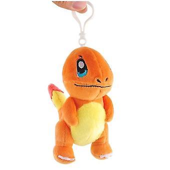 Schattige Pikachu Stitch Pluche Sleutelhanger Squirtle Charmander Bulbasaur