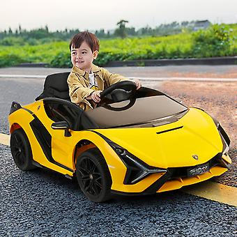 Kids car Leather kids car seat car for kids with MP4 for kids remote toy car