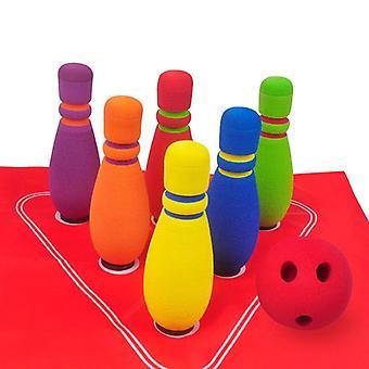 ילדים מצחיק בטיחות באולינג להגדיר 1 כדורים 6 סיכות באולינג משחק ספורט צעצועים באולינג  באולינג