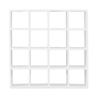 Wooden White 16 Grid Storage Rack 1: 12 Dollhouse Miniature Doll House Decor Shelves Display