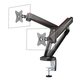 DELTACO GAMING Dual Monitors Spring-Assisted Pro Gaming Monitor Arm