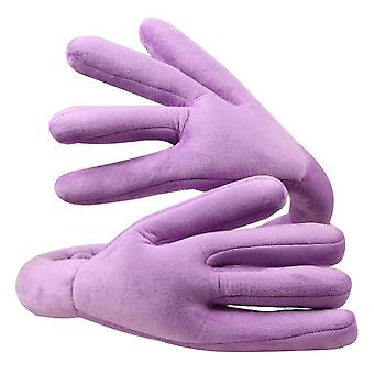 Portable Hand Shape Travel Headrest - Neck Perfect Support Pillow(Purple)