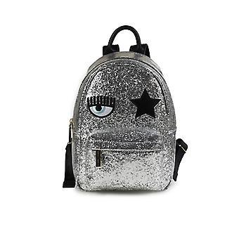 Chiara Ferragni Eyestar Silver Backpack