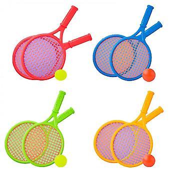 Outdoor interactieve strand speelgoed tennis racket set (groen)