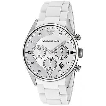 Emporio Armani cauciuc alb AR5867 ceas pentru femei