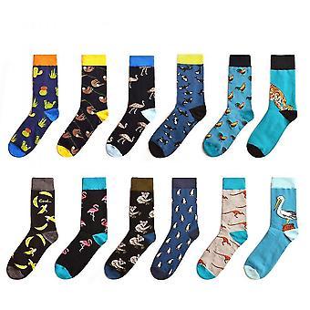 Black funky crew socks for men mz994
