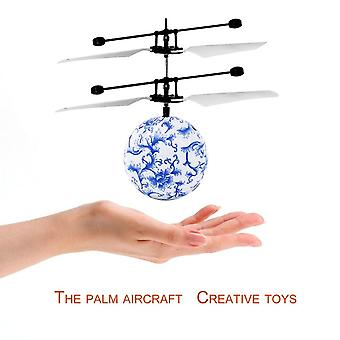 Rc Infrarot-Induktionsflugzeug mit blau-weißem Porzellankugel Kinder spielzeug