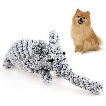 Bavlněné lano Psí hračky Štěně Žvýkat hračky Pet Zuby Tréninkové Hračky Relieve Úzkost Pes Toyselephant