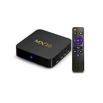 Mx10 4k Hd Smart Tv Box avec télécommande, Android 7.1.2, Rk3328 Quad-core 64-bit Cortex-a53, 4gb + 32gb