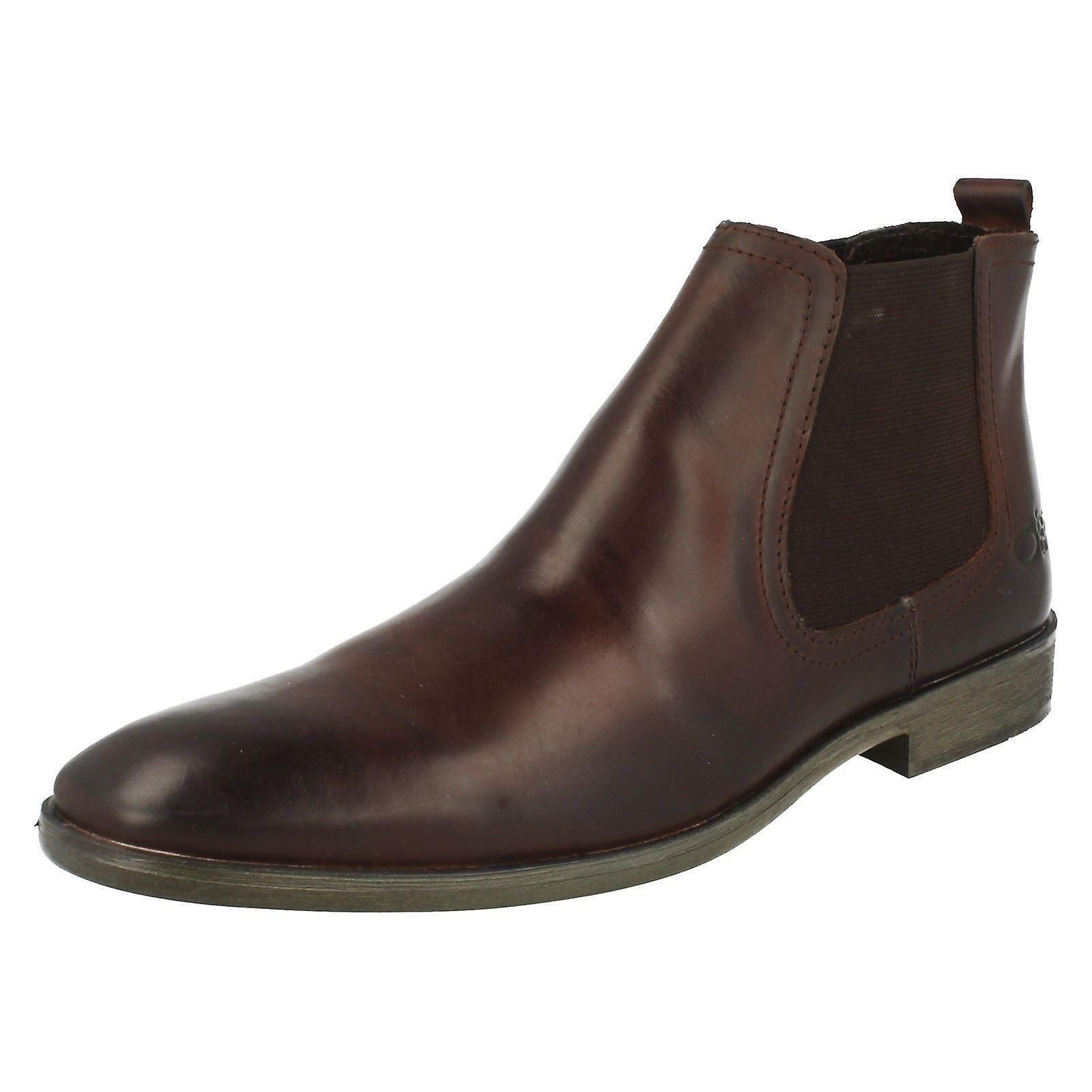 Mens Base London Pull On Chelsea Boots *Saffron*