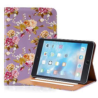 32e bloemdessin folium case voor Apple iPad Mini 1 2 3 - Vintage Rose fossiele